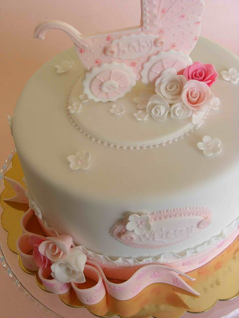 Baby girl cake by bubolinkata, via Flickr