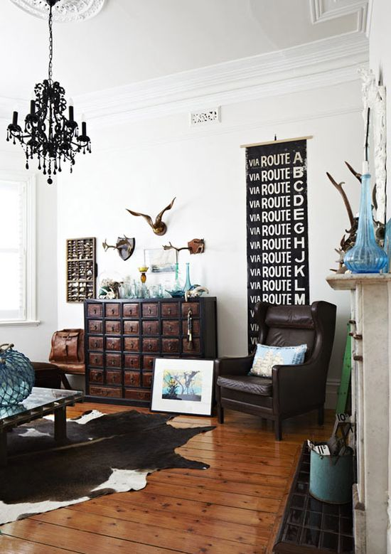 The amazing living room of Melbourne stylist Julia Green and her family.