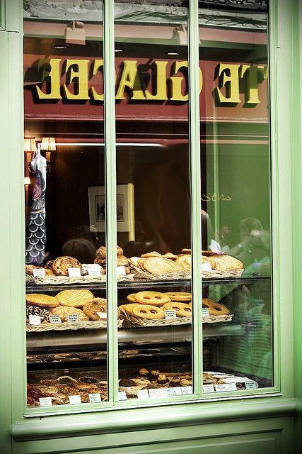 Bakery window in Montmatre near Sacre Couer