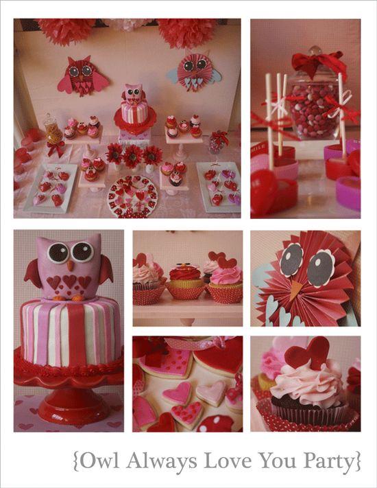 owl valentine party
