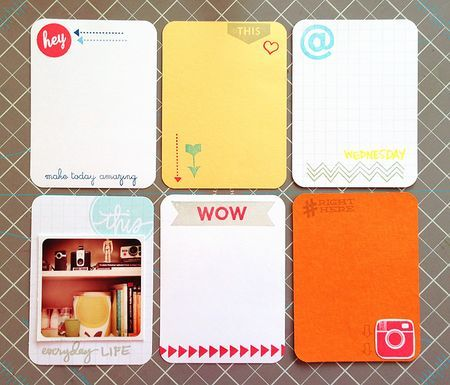 Make your own journaling cards
