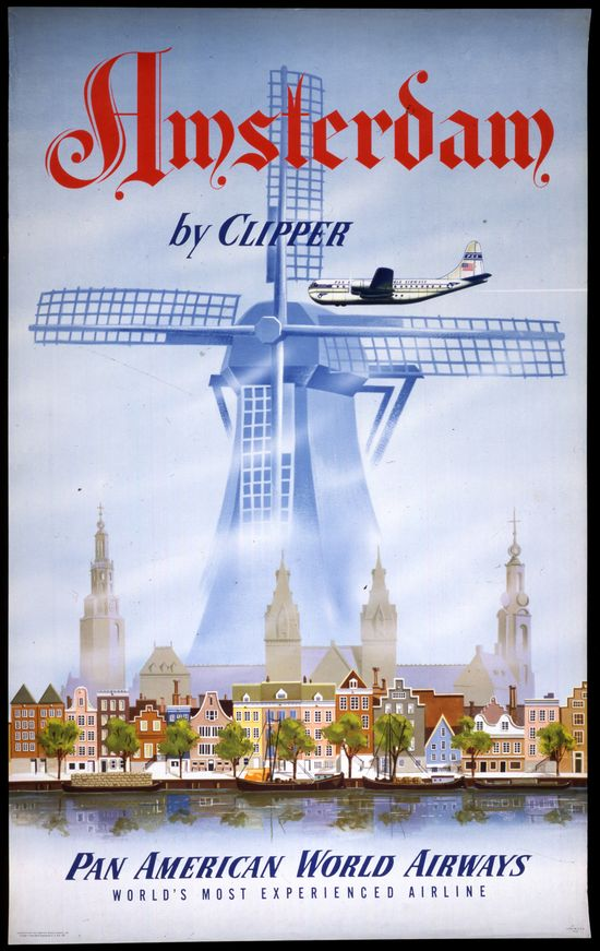 Pan American ~ Amsterdam by Clipper
