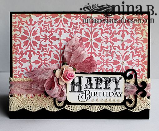 Immensely pretty birthday card. #birthday #pink #card #dimensional #crafts #card_making #scrapbooking #elegant