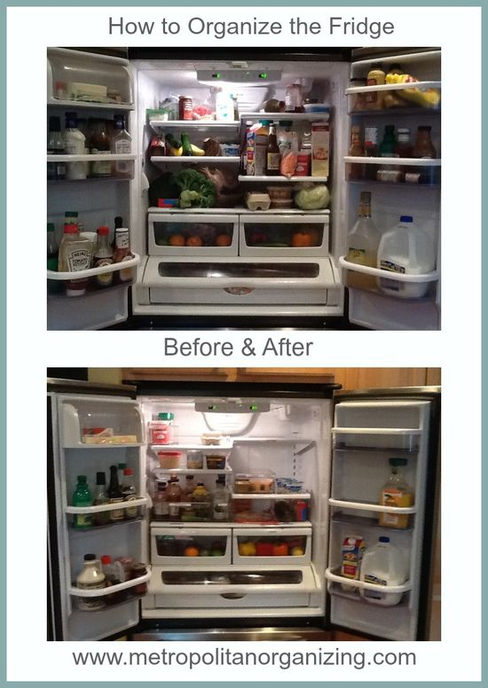 Top organizing tips to get your fridge organized! Metropolitan Organizing Professional Organizer Geralin Thomas, Raleigh Cary, NC.