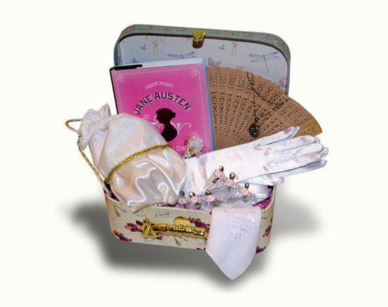 Jane Austen Ready for the Ball Gift Basket: Pink