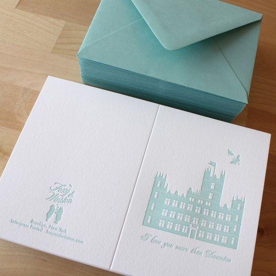 Downton Abbey Card $5
