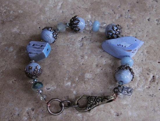 Frosty Winter Bracelet by skyejewels on Etsy, $42.00  -  My beads!