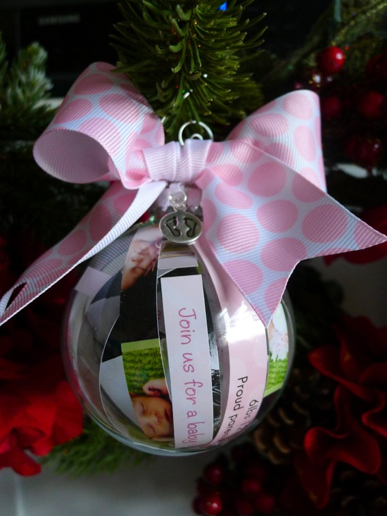 Babys first christmas ornament Birth announcement by rachelwalter, $15.00