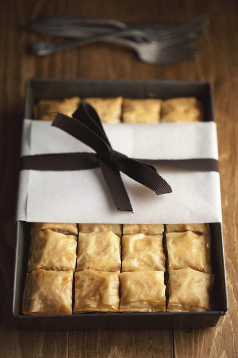 Chocolate hazelnut baklava. Yum! #desserts #recipe #baking #chocolate #hazelnuts #baklava