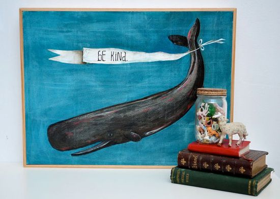 Be Kind Whale Painting
