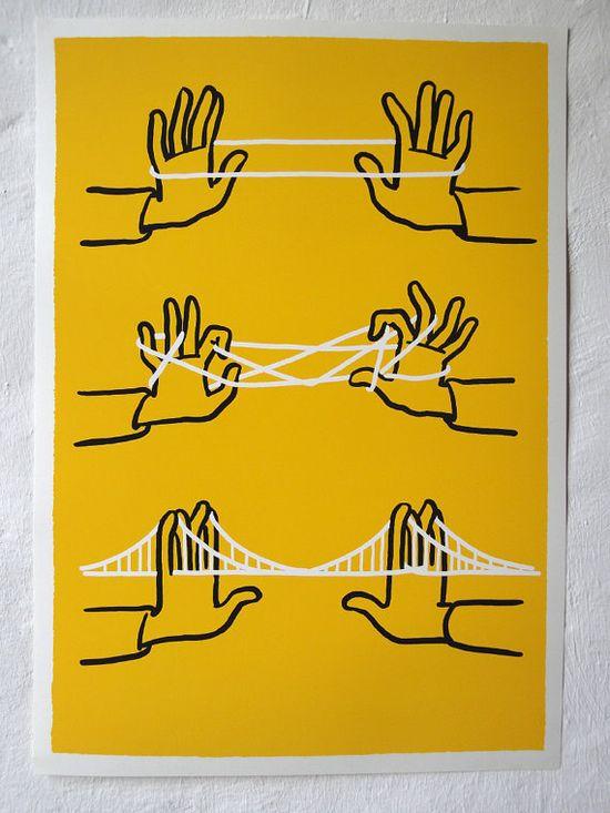 Christoph Niemann's Brooklyn Bridge print (available in his Etsy shop!).
