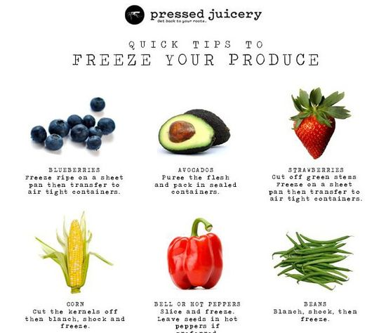 Quicks Tips To Freeze Your Produce - The Chalkboard