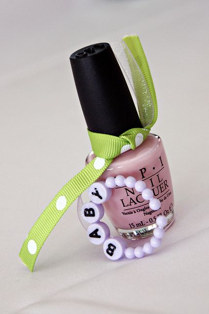 Greatest idea ever!! baby shower party favor: OPI - It's a girl