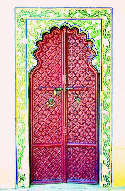 Red door. India