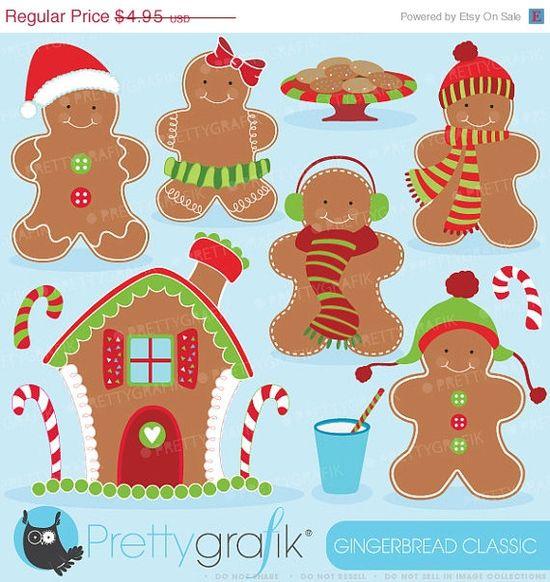 #gingerbread #christmas clipart #clip art #prettygrafik