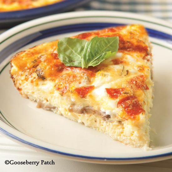 Gooseberry Patch Recipes: Crustless Pizza Quiche from 101Cozy Casseroles Cookbook