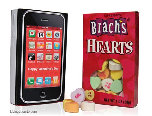 Printable iPhone Valentine's candy wrap