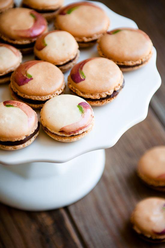 Coconut Rose Chocolate Macarons