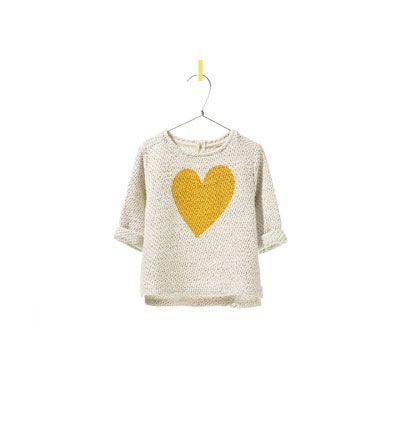 HEART SWEATER from Zara