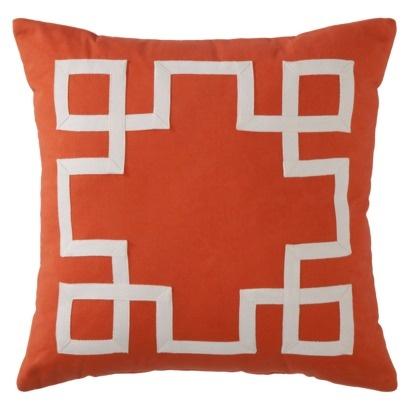 Grosgrain Applique Toss Pillow