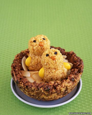 Crispy cornflake chicks in a chocolaty cereal nest are a sure sign that spring is on the way. #Spring, #Food