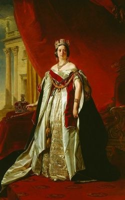 Portrait of Queen Victoria in 1843 -  The 4 Basics of Victorian Interior Design and Home Decor   This page provides an introduction to Victorian home decor organized into four design basics: Color, Pattern, Opulence and Romance