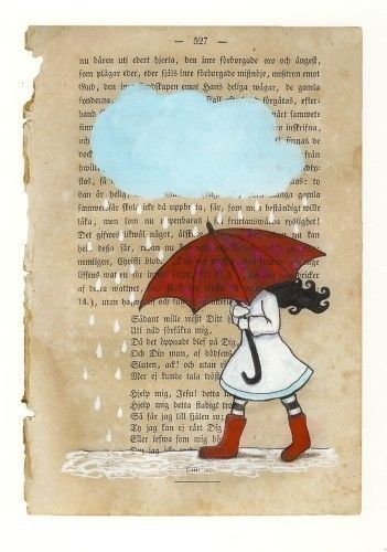 My red umbrella  Print by carambatack on Etsy