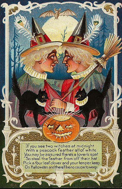 Two witches at midnight ...