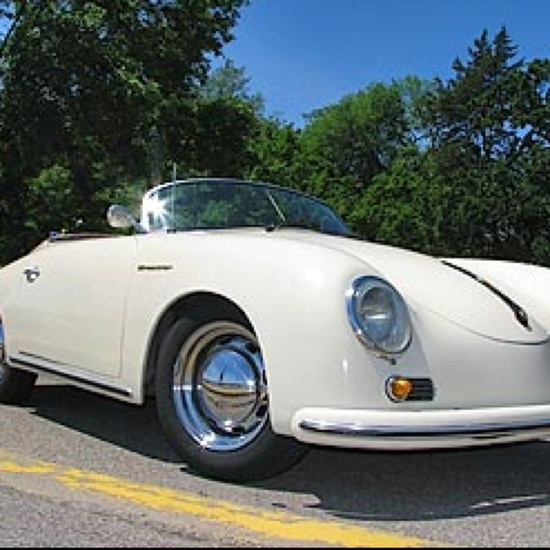 1956 Porsche Speedster. One of the sexiest sports cars ever designed.