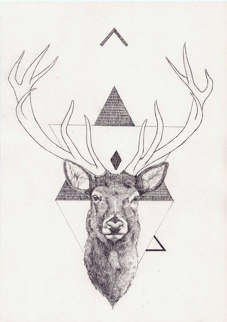 Geometric Deer by Peter Carrington