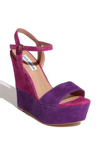 Purple shoes. Yum.