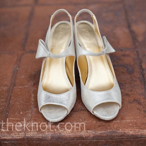 Metallic Gold Bridal Shoes