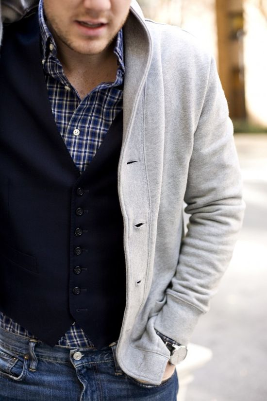 Mens fashion layers