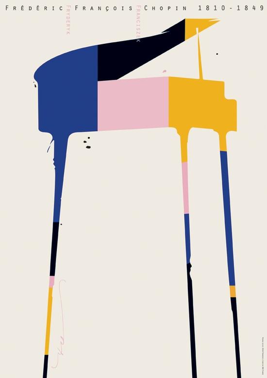 Pekka Loiri Chopin poster, MUIP Biennial