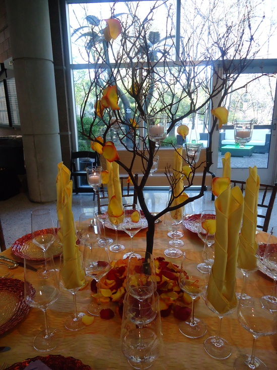 pretty table idea from Saz's showcase, I really like the tree with the candles