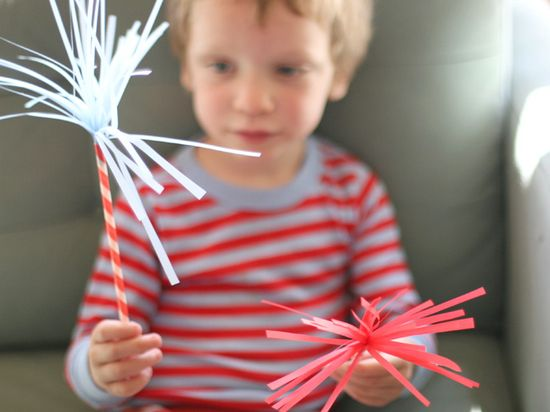 diy -4th of July sparklers