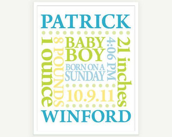 baby announcement art