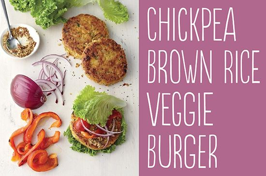 25 Tasty Hamburger Alternatives That Are Actually Good For You: Chickpea Brown Rice Veggie Burger.
