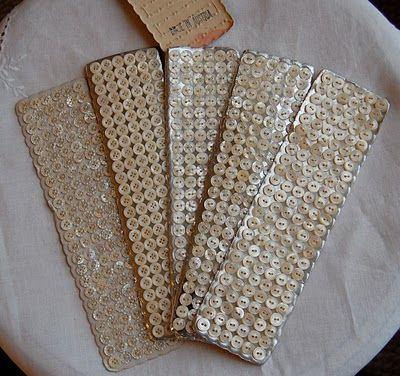 Beautiful Antique Button Cards