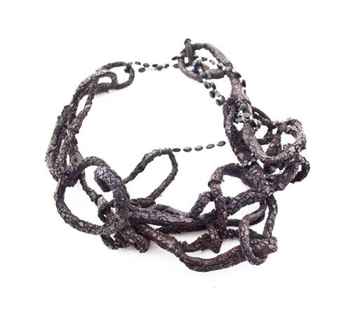 Adam Grinovich, Necklace, 2011 - Leather, Tar