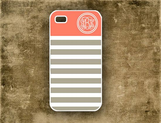 Iphone 5 case Iphone 4 case   Monogrammed chevron by ToGildTheLily, $16.99