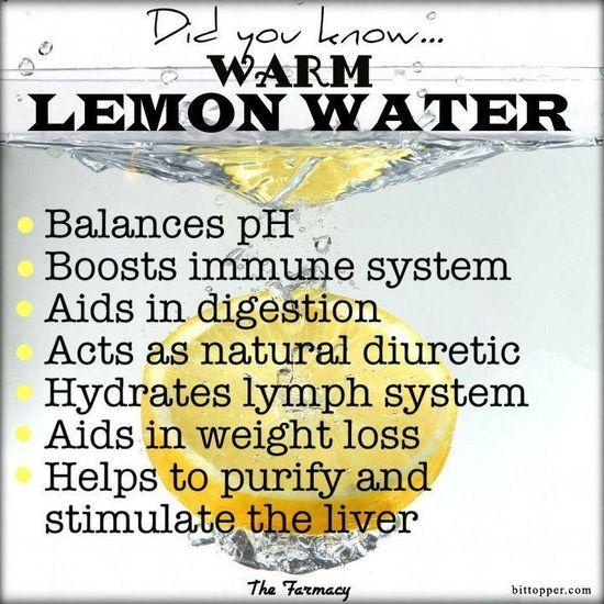 Lemon Water via bittopper.com