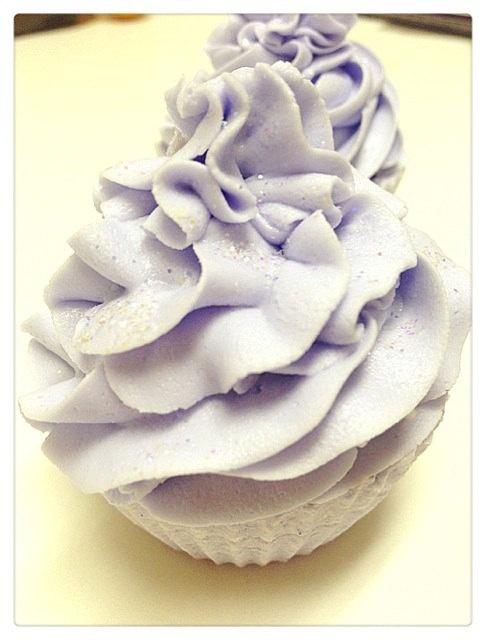 Bath Bomb  Lavender Cupcake Bath Bomb 5oz by Soapmuchlove on Etsy, $7.00