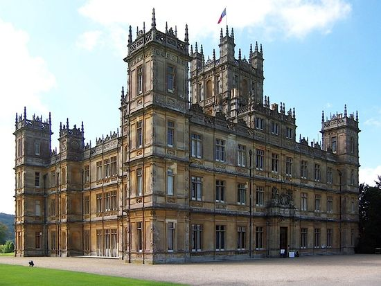 Highclere Castle...used as the house on Downton Abbey.