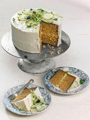 Ginger Cake with Bourbon Frosting #recipes #dessert