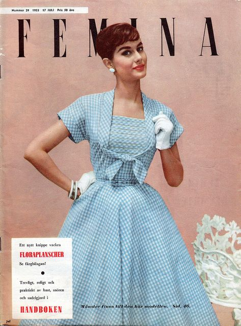 Some of my favorite covers of my old Femina-magazines from the 1950's.