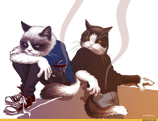 Tard and Pokey as two grumpy teenagers.