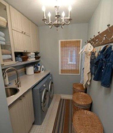 love sarah richardson!  Laundry Room Storage Ideas
