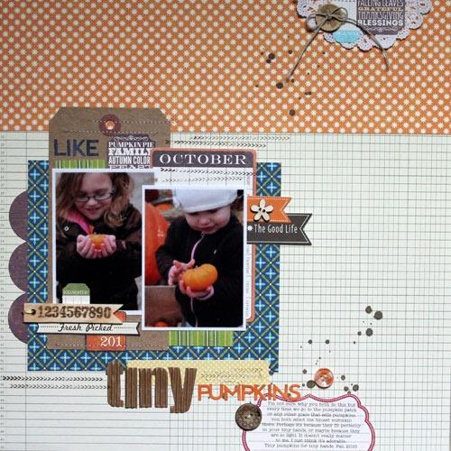 Tiny Pumpkins - Scrapbook.com
