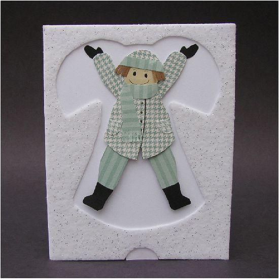 Snow Angel Pull Tab Card...by cornerstonelae, via Flickr.